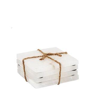 Alabaster Coasters White