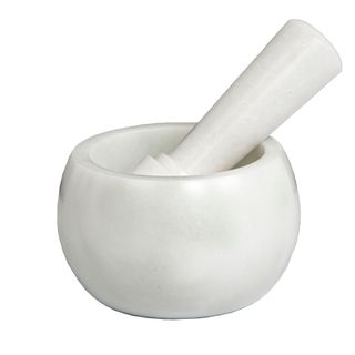 Marble Mortar and Pestle White