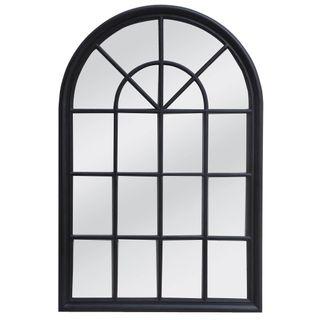 Hamptons Arched Mirror 1x1.5m Black