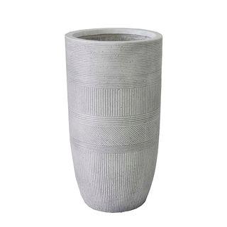 Vetro Ridged Pot Medium White