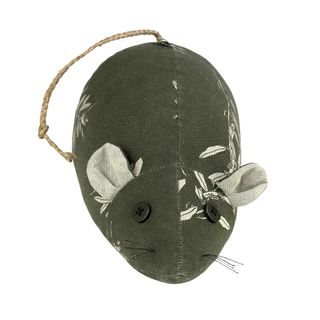 Field Mouse Door Stopper Olive Green