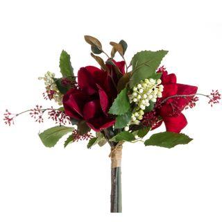 Magnolia Grape & Berries Bouquet 32cm Red