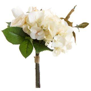 Hydrangea & Magnolia Bouquet 35cm Cream