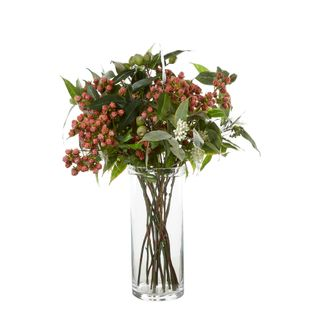 Mulberry & Eucalyptus in Medium Cylinder Vase
