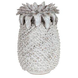Pineapple Vase Medium White