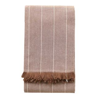 Wild Striped Tablecloth Stone