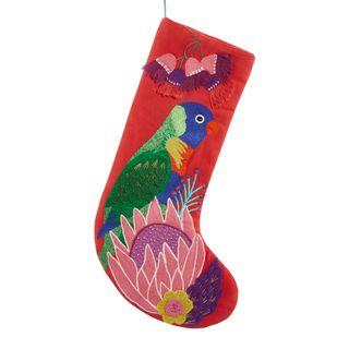 PRE-ORDER Lorikeet Australian Bird Stocking Red