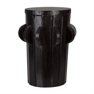 Cog stool black