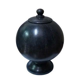 Marble Globe Jar Black