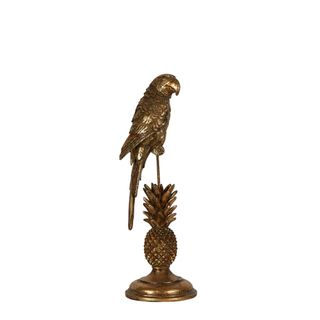Golden Parrot Sculpture Small