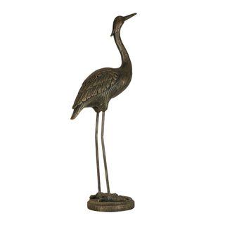 Standing Crane Sculpture Bronze