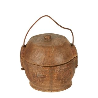 Yunnan Coconut Wood 100 Year Container Small