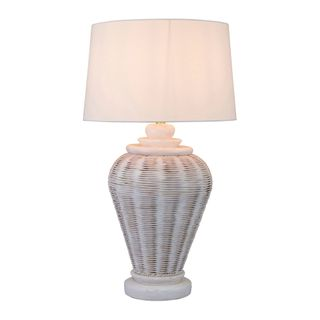 Zimbali - White - Rattan Table lamp Base only