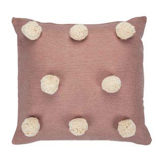 Pom Pom Cushion Mushroom Pink
