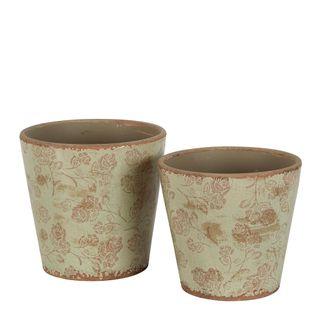Somerset Ceramic Pot Set of 2 Sage