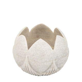 Marble Tealight Holder White