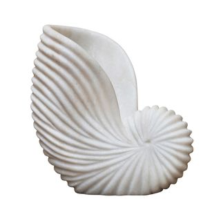 Marble Conch Shell White Large