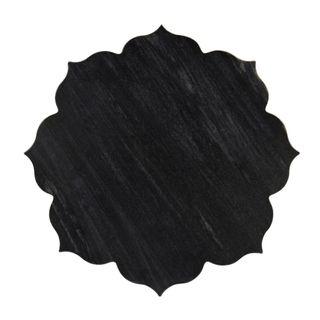 Jasmine Marble Platter Large Black