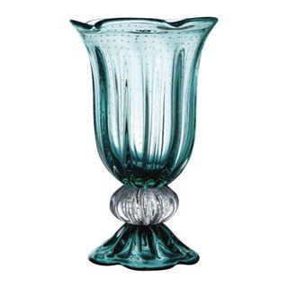 Empress Art Glass Vase Marine