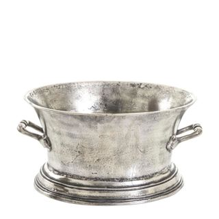 Oval Ice Bucket  Large Silver