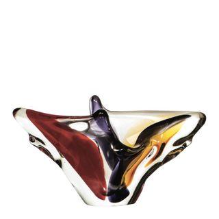 Flue Art Glass Centre Piece Mauve