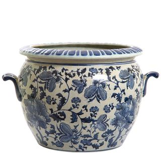 Imperial Flower Pot Blue and White