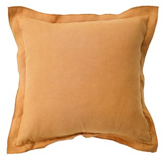 French Frill Linen Cushion Camel