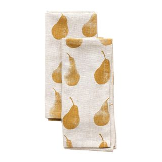 Pear  Napkin Set of 4 Mustard