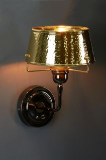 Jacobsen Wall - Hammered Flared Wall Light  - Gold