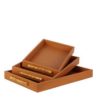 Cashel Tray Set of 3 Tan
