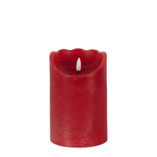 Battery Operated  Wax Candle Plum 15cm