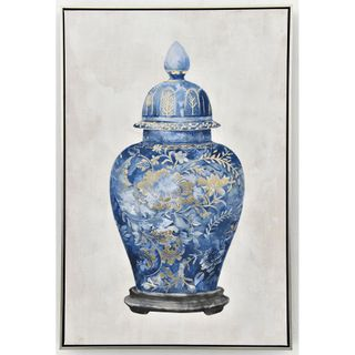 Ming Ginger Jar Printed Canvas With Frame