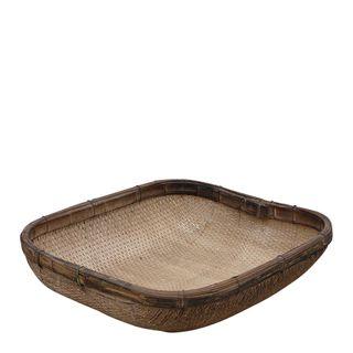 Pae Antique Wooden Rectangular Pan