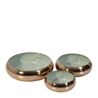 Anaise Décor Brass Bowls Set of 3 Pearl Grey