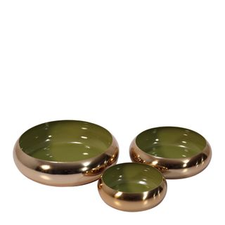 Anaise Décor Brass Bowls Set of 3 Olive