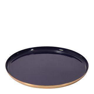 Donai Décor Brass Platter Large Navy