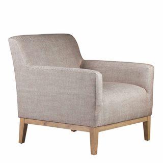 Logan Armchair Light Grey Fabric