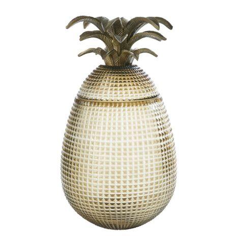 Pineapple Jack Fruit Cut Glass Jar