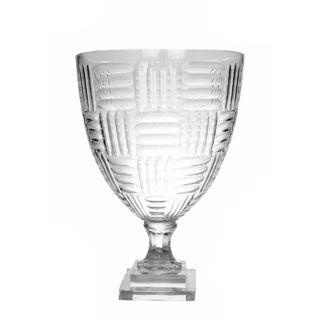 Chinon Cut Glass Urn Clear