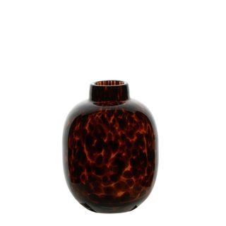 Sienna Glass Vase Small Tortoise