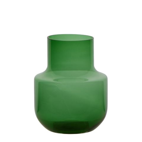 Nina Glass Vase Bottle Green Large