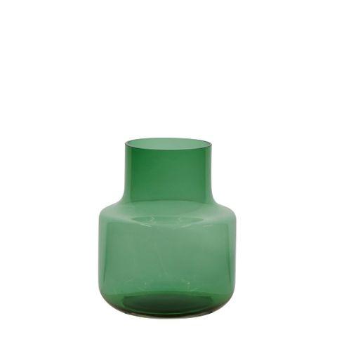 Nina Glass Vase Bottle Green Small