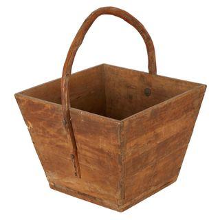 Eagan Antique Wooden Bucket with Handle