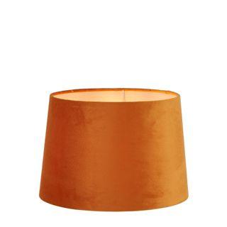 Velvet Drum Lamp Shade Medium Burnt Orange