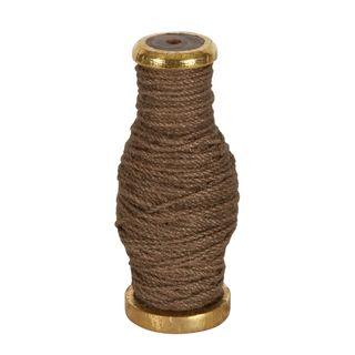 PRE-ORDER Jute Cord On Wooden Spool Brown 30m