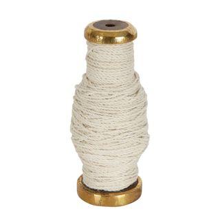 PRE-ORDER Jute Cord On Wooden Spool Cream 30m