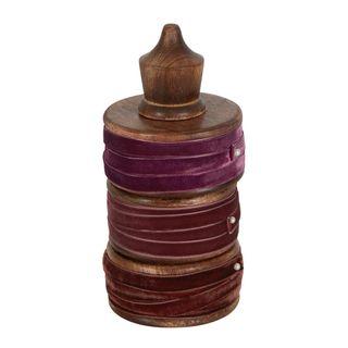 PRE-ORDER Plum Velvet Ribbons Set of 3 - 30m Total