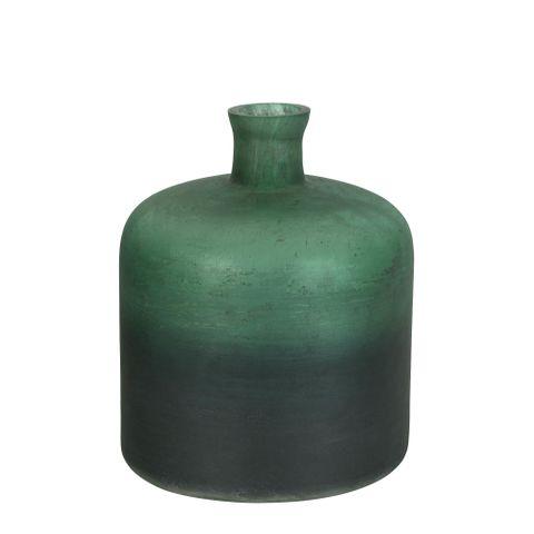 PRE-ORDER Juniper Glass Bottle Vase Green
