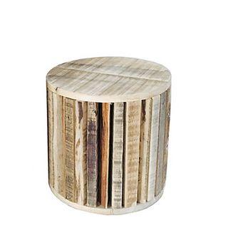 PRE-ORDER Round Reclaimed Wood Plinth 25cm