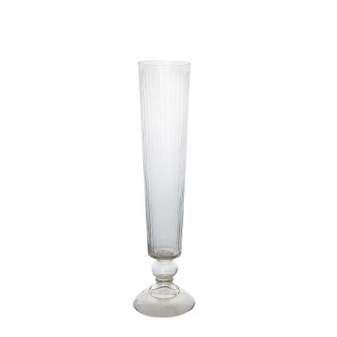 PRE-ORDER Cello Stripe Cut Glass Vase Small Clear